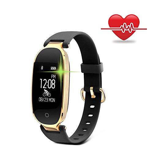 Yamay Fitness Tracker Mit Pulsmesser Uhr Wasserdicht Ip67