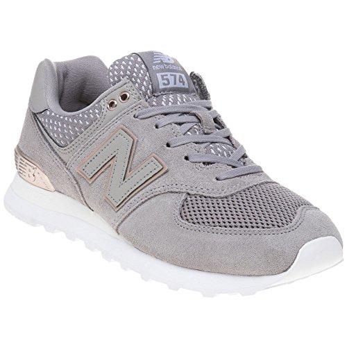 257df7a76259d8 New Balance 574 Damen Sneaker Grau