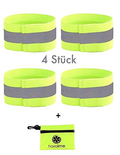 havalime 4x reflektorband inkl tasche reflektierend f r joggen laufen fahrrad kinder. Black Bedroom Furniture Sets. Home Design Ideas
